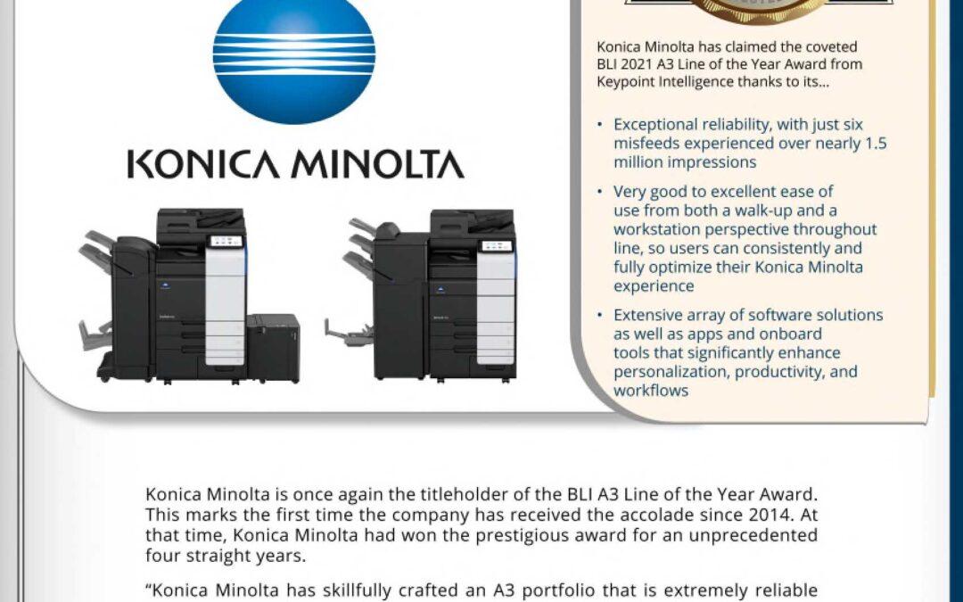 Konica Minolta iSeries 2021 Line of the Year