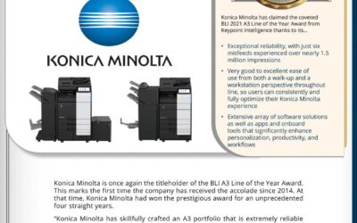 Konica Minolta iSeries 2021 Line of the Year