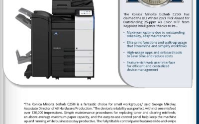 Konica Minolta C250i BLI Award Winter 2021